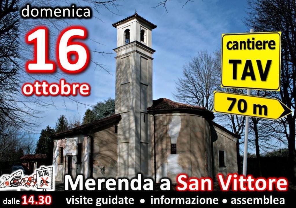 Merenda no tav a San Vittore
