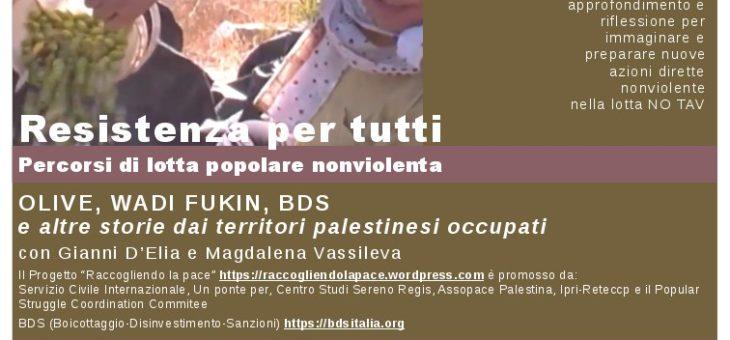 Resistenza per tutti: Olive, Wadi Fukin, BDS