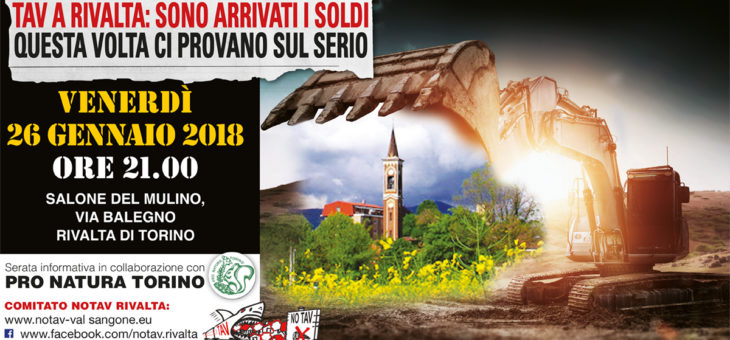 Tav a Rivalta: sono arrivati i soldi