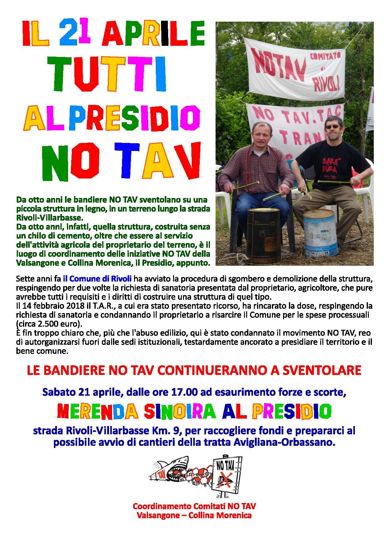 Presidio No Tav - Villarbasse