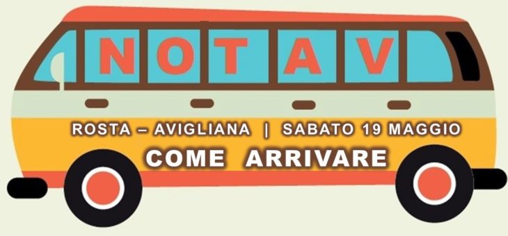 19 maggio | manifestazione NO TAV Rosta – Avigliana: come arrivare